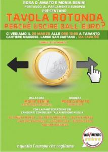 uscire euro locandina