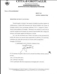 lettera Santoro Antonio