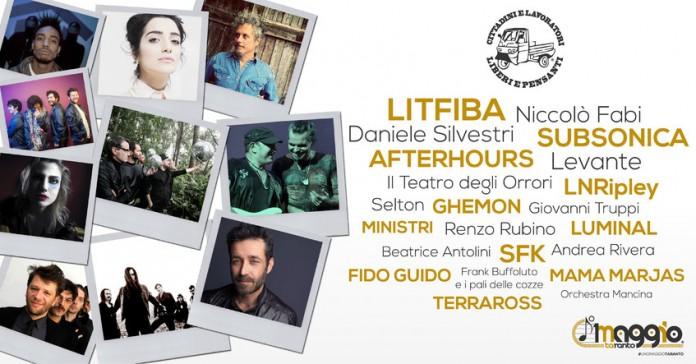 Taranto: Afterhours, Subsonica e Litfiba al concerto del Primo maggio