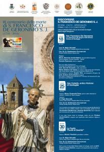 Locandina     I Ciclo conferenze  III Centenario De Geronimo