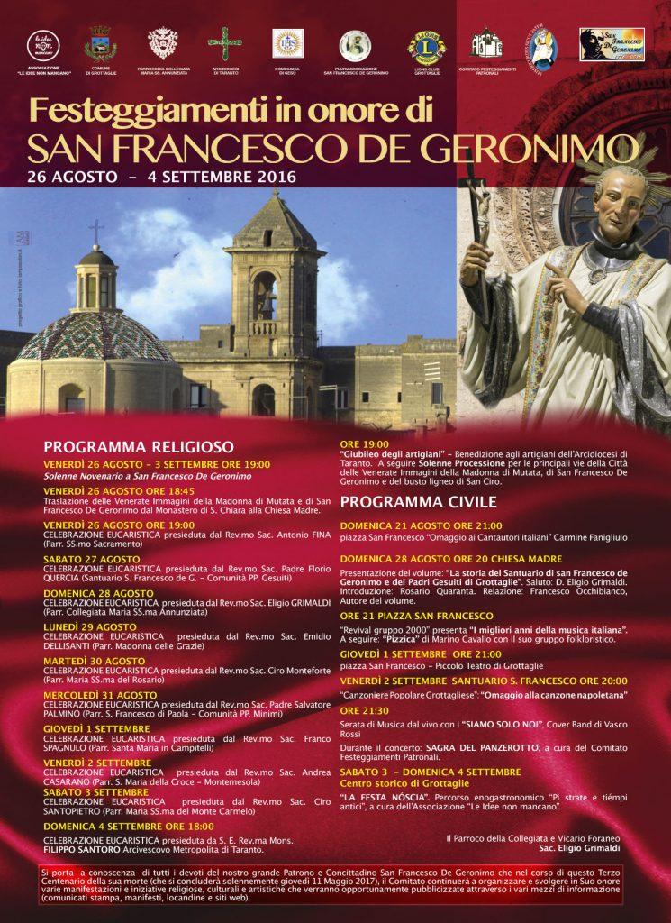 manifesto s. francesco de geronimo 2016