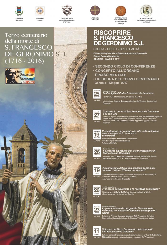 Locandina Iniziative II Ciclo III Centenario De Geronimo