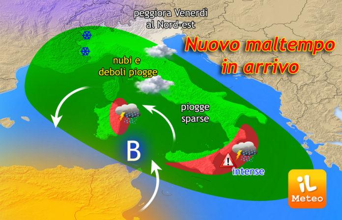 Fronte instabile verso il nord Italia, arriva la neve anche in pianura!