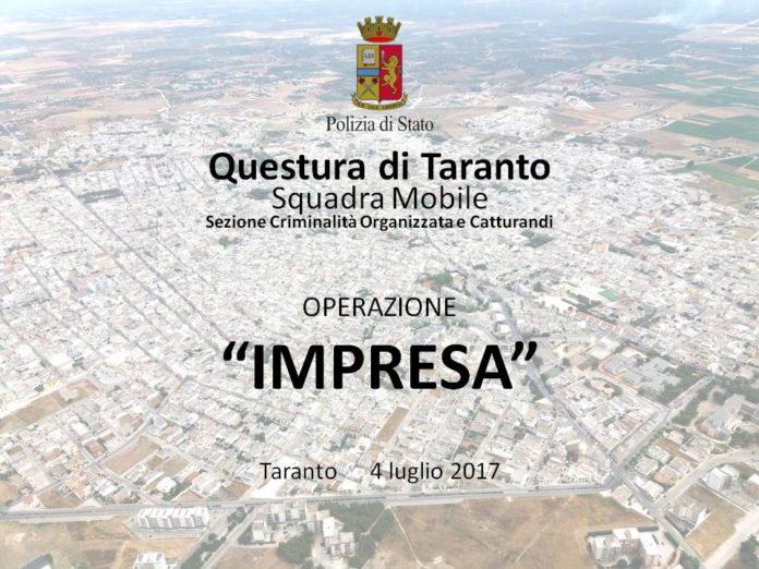 Mafia, arrestate 27 persone a Taranto. Tra queste, anche due sindaci