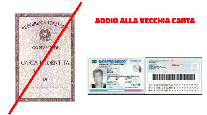 ADDIO ALLA VECCHIA C.I. CARTACEA -