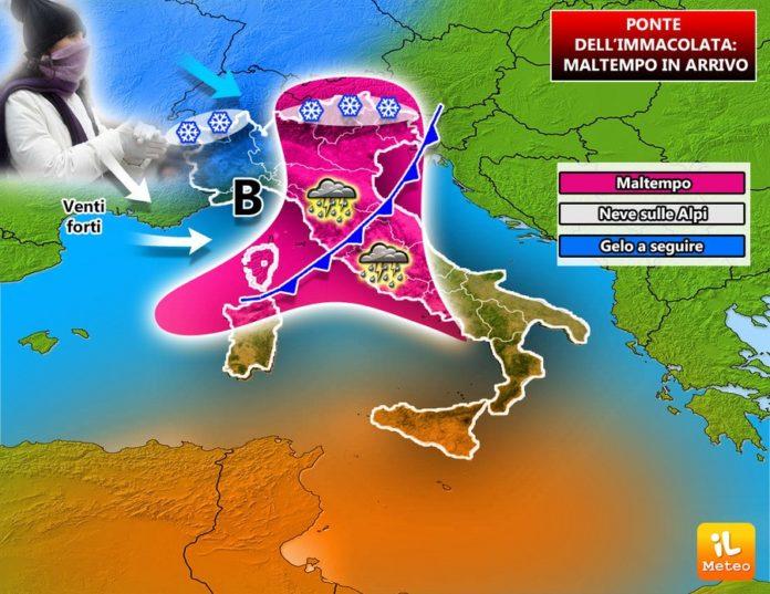 Previsioni meteo, Ponte Immacolata: rischio neve in pianura e sulle coste