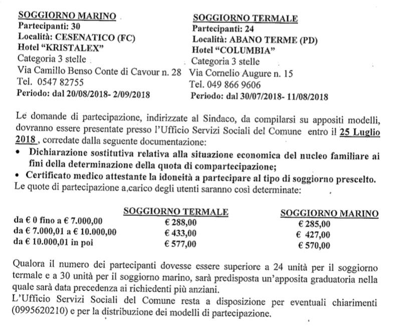 Grottaglie, soggiorni climatici a Cesenatico o Abano Terme. Ecco ...