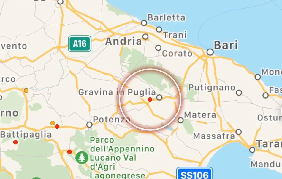 Cartina Di Gravina In Puglia.Ultim Ora Lieve Scossa Di Terremoto A Gravina In Puglia Gir Grottaglie In Rete Blog
