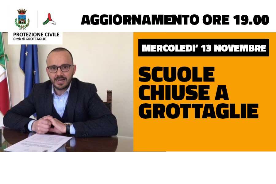 Ultim'Ora: UFFICIALE, SCUOLE CHIUSE a Grottaglie Mercoledì' 13 novembre - Grottaglie in rete