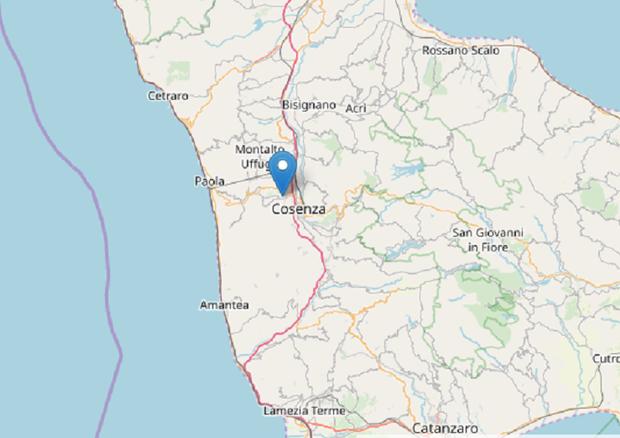 Ultim'Ora: Scossa di Terremoto a Cosenza. Magnitudo Ml 4.4 ...