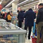 fila supermercato