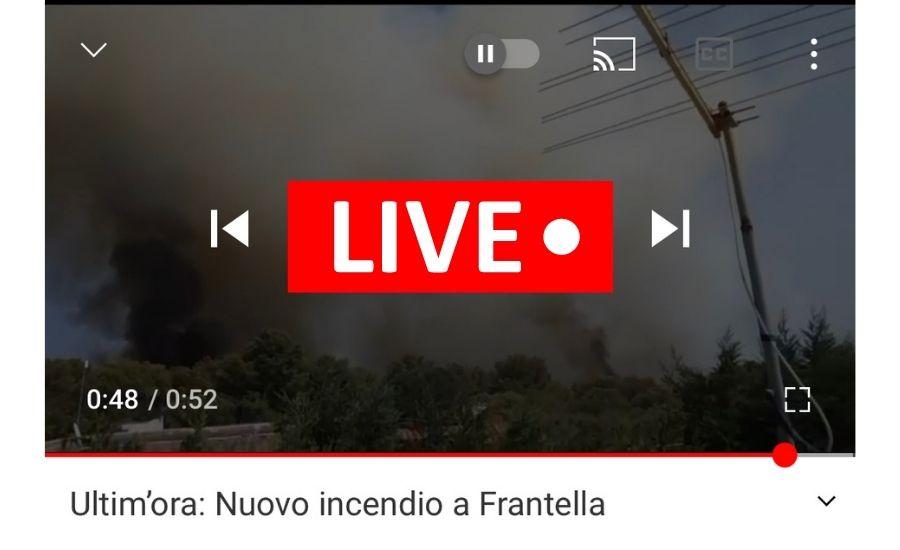 Incendio pineta Grottaglie